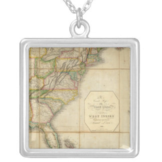 A Correct Map of the United States Custom Necklace