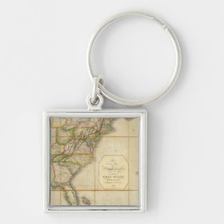 A Correct Map of the United States Keychain