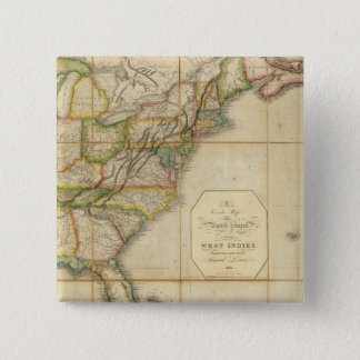 A Correct Map of the United States Pinback Button