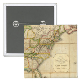 A Correct Map of the United States Pinback Buttons