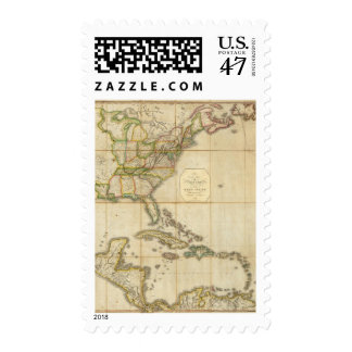 A Correct Map of the United States Postage