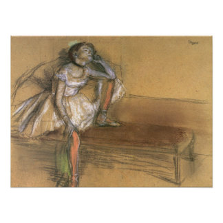 A Coryphee Resting by Edgar Degas, Vintage Ballet Poster