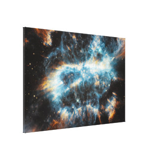A Cosmic Holiday Ornament, Hubble-Style Canvas Print
