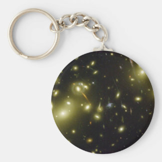 A Cosmic Magnifying Glass Basic Round Button Keychain