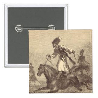 A Cossack Horseman Button