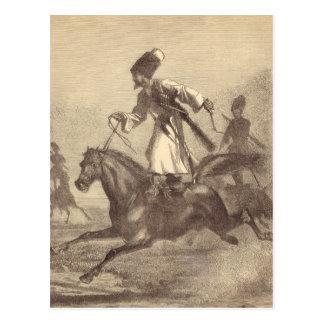 A Cossack Horseman Postcard