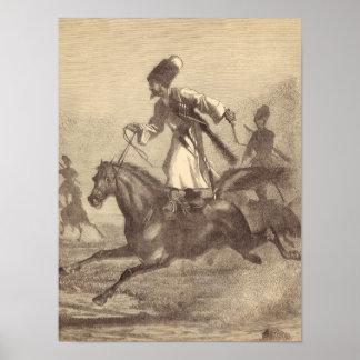 A Cossack Horseman Print