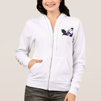 A cosy hoodie with a unique pop-art style design
