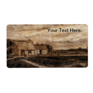 A Cottage in the Heath Landscape - van Gogh Label