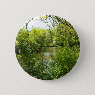 A cottage tucked away button