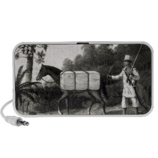 A Cotton Carrier, from 'Travels in Brazil' Portable Speaker
