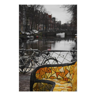 A Couch on the Canal - Nieuwmarkt Poster