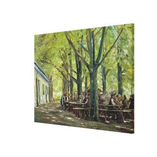 A Country Brasserie, Brannenburg, Bavaria, 1894 Canvas Print