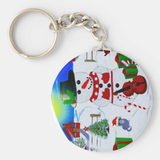 A Country Christmas Basic Round Button Keychain