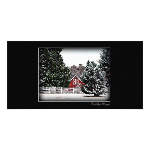 A Country Christmas Photo Card Template