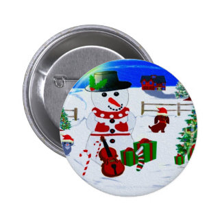 A Country Christmas Pinback Button
