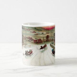 A Country Christmas Scene Coffee Mug