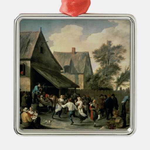 A Country Dance Metal Ornament