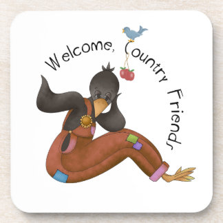 A Country Friends Welcome Coaster
