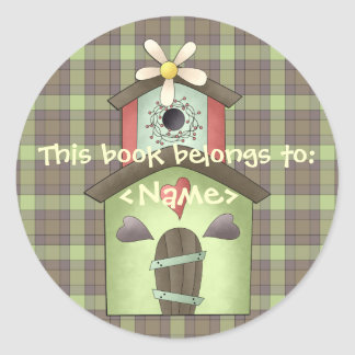 A Country Garden Birdhouse Book Sticker
