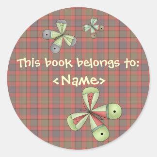 A Country Garden Butterfly Book Sticker