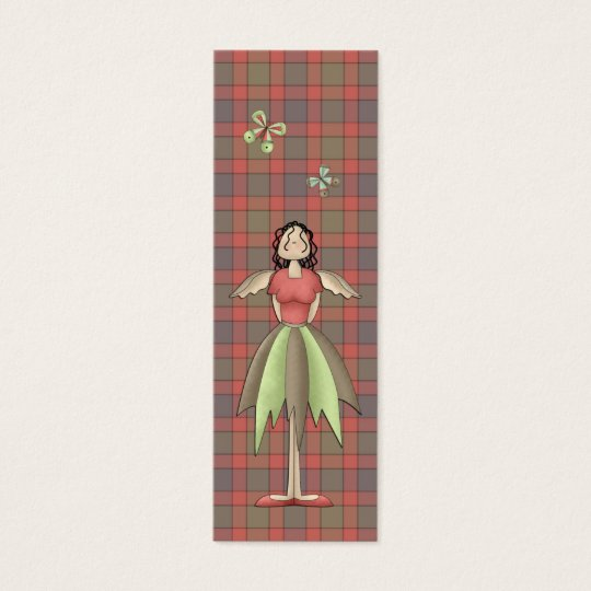 A Country Garden Fairy Bookmark (Red) Mini Business Card