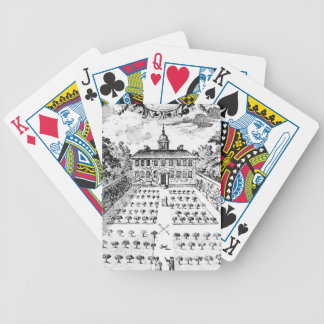 A country house garden, from 'The Gentlemen's Recr Bicycle Playing Cards
