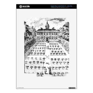 A country house garden, from 'The Gentlemen's Recr iPad 3 Decals