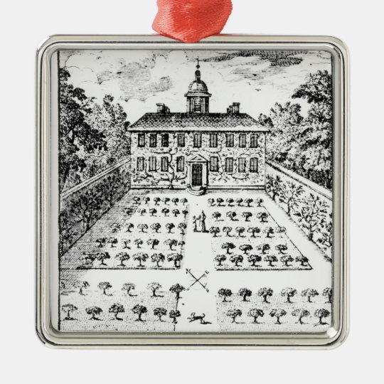 A country house garden, from 'The Gentlemen's Recr Metal Ornament