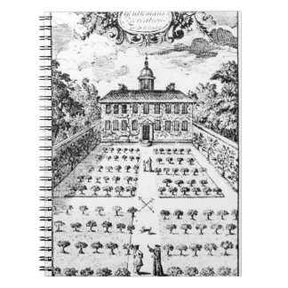 A country house garden, from 'The Gentlemen's Recr Notebooks