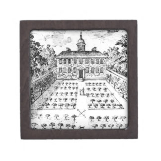 A country house garden, from 'The Gentlemen's Recr Premium Jewelry Boxes