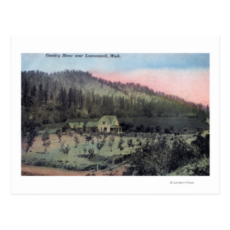 A Country Residence Scene Postcard