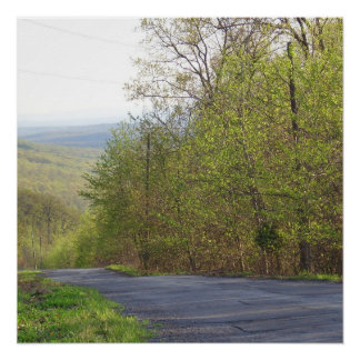 A Country Road in West Virginia Poster