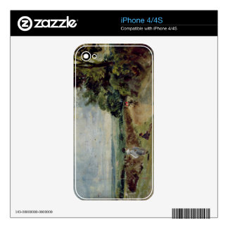 A Country road with trees and figures Skins For The iPhone 4S