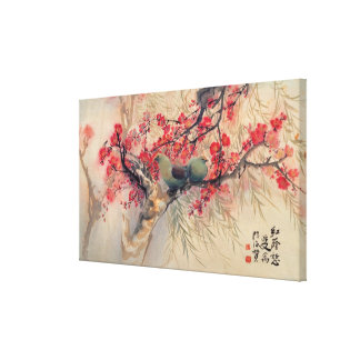 A Couple in Spring Canvas Canvas Print