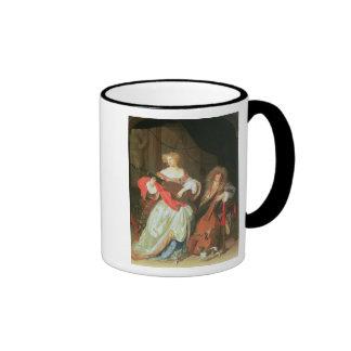 A couple making music ringer mug