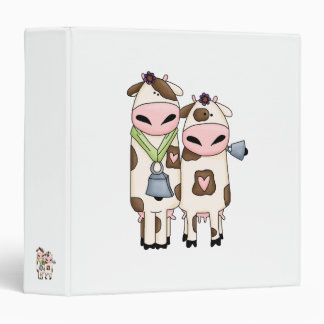 a couple of cute moo cows 3 ring binder