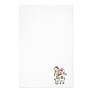 a couple of cute moo cows customized stationery