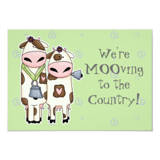 a couple of cute moo cows moving announcement