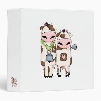 a couple of cute moo cows vinyl binder