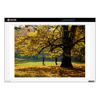 """A Couple Take A Stroll In Autumn Season Skins For 17"""" Laptops"""