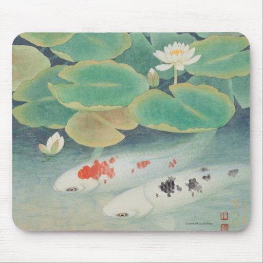 A Couple under Lotus Mousepads
