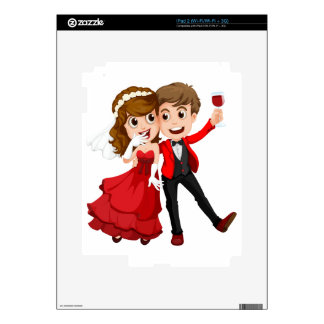 A couple who just got married skins for the iPad 2
