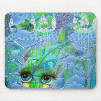A courageous Fish Mouse Pad