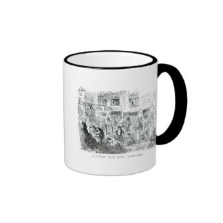 A Court for King Cholera, 1852 Ringer Mug