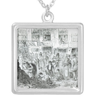 A Court for King Cholera, 1852 Square Pendant Necklace