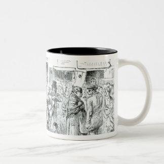 A Court for King Cholera, 1852 Two-Tone Coffee Mug