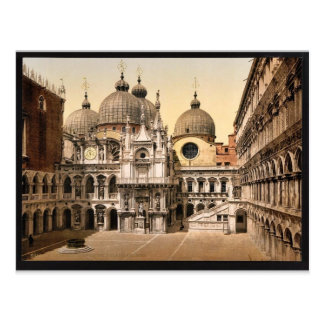 A court in the Doges' Palace, Venice, Italy vintag Postcard