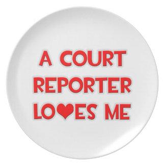 A Court Reporter Loves Me Dinner Plate