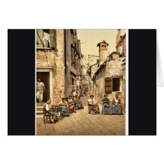 A court yard (Calle dell Angelo a San Martino), Ve Card